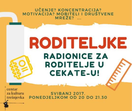 RODITELJKE – Radionice za roditelje u CekaTe-u!