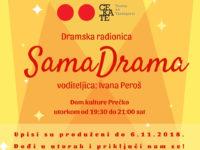 Produljeni su upisi u kazališnu radionicu SamaDrama