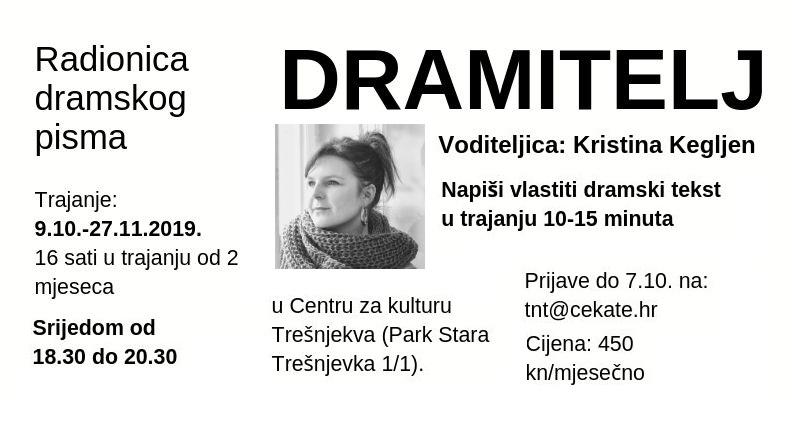 DRAMITELJ. Radionica pisanja dramskog teksta